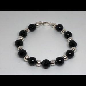 Tiffany & Co Black Onyx Ball Bracelet 925